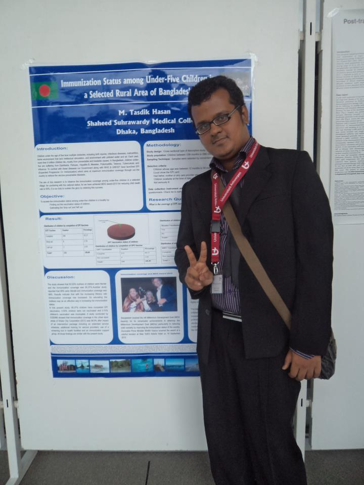 Dr. Tasdik Hasan Dip (during his 5th year) presenting his research work at  Antwerp Medical Students Congress-2011,Belgium