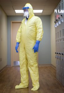 Combat suit for Ebola soldiers