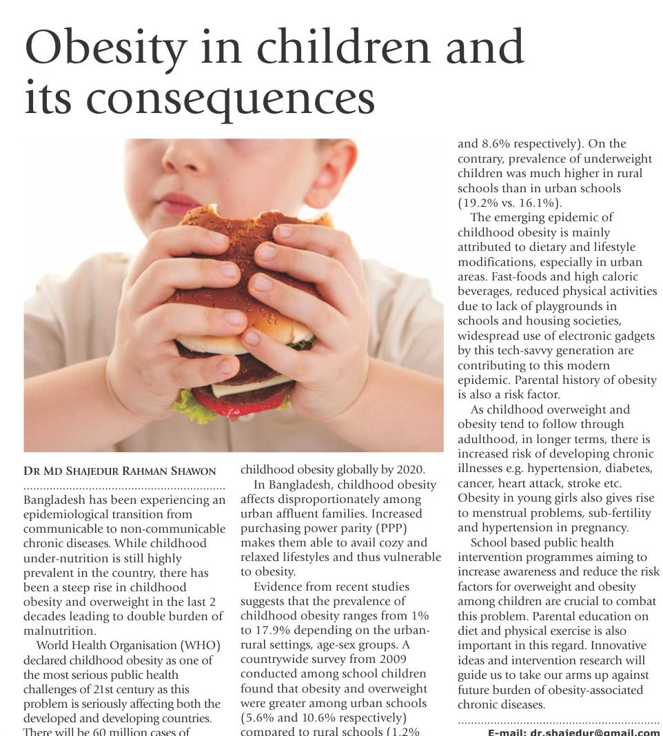 fear of obesity and its consequences To review the impacts of obesity on women's reproductive health and fertility   the present discussion focuses on the effects of obesity on reproductive health in  women  29lashen, h, fear, k, and sturdee, dw obesity is associated with .