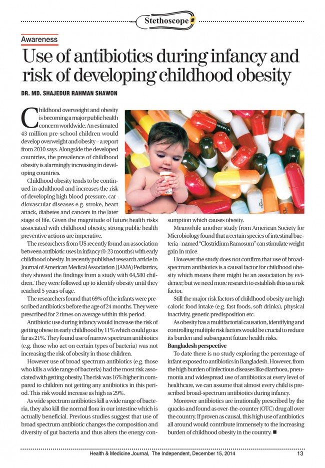 essay on child and obesity